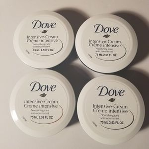 Dove intensive cream travel size 4 pack new